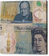 New Five Pound Notes Acrylic Print