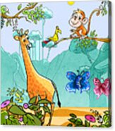 New Friends In The Jungle Acrylic Print