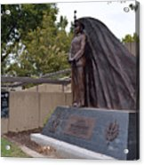 New General Vang Monument In Autumn 2015 Acrylic Print by James Warren