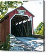 New Germantown Covered Bridge Acrylic Print