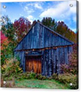 New Hampshire Barn Eaton Nh Acrylic Print