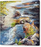 New Hampshire Creek In Fall Acrylic Print