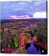 New Hampshire Fall Sunset Over Pond Acrylic Print
