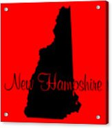 New Hampshire In Black Acrylic Print