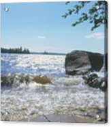 New Hampshire Lake Gale Acrylic Print