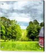 New Hampshire Landscape Red Barn Etna Acrylic Print