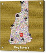 New Hampshire Loves Dogs Acrylic Print