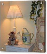 New Home Card With Bear Acrylic Print