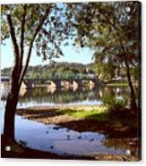 New Hope Lambertville Bridge Acrylic Print