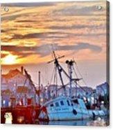 New Hope Sunrise - Sunken Ship At West Ocean City Harbor Acrylic Print