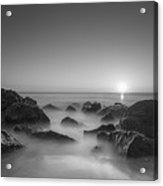 New Jersey Sunrise At Sea Girt Bw Acrylic Print