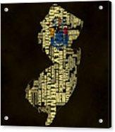 New Jersey Typographic Map 02 Acrylic Print