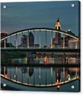 New Main Street Bridge At Dusk - Columbus, Ohio Acrylic Print