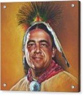 New Mexico Apache Dancer Acrylic Print