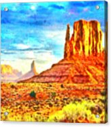 New Mexico Beautiful Desert - Pa Acrylic Print