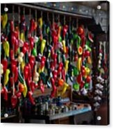 New Mexico Hanging Peppers Acrylic Print