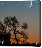 New Moon At Beaver Creek, Arizona, I Acrylic Print