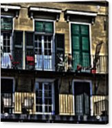New Orleans Balcony Acrylic Print by Cecil Fuselier