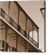 New Orleans Balcony With Lamp Acrylic Print