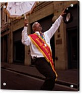 New Orleans Brass Band Leader Acrylic Print