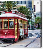 New Orleans Canal Streetcars  Acrylic Print