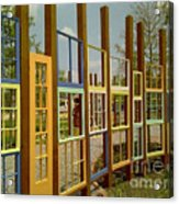 New Orleans Closed Door And A Window Of Many Views Acrylic Print