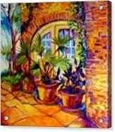 New Orleans Courtyard By M Baldwin Acrylic Print