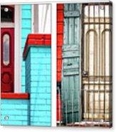 New Orleans Doorways Diptych One Acrylic Print