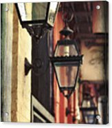 New Orleans Gas Lamps Acrylic Print