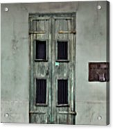 New Orleans Green Doors Acrylic Print