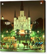New Orleans Night Photo - Saint Louis Cathedral Acrylic Print