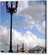 New Orleans Riverwalk Acrylic Print by Joy Tudor