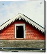 New Orleans Rooftop Architecture Fish Scales And Gingerbread Acrylic Print