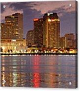 New Orleans Skyline At Dusk Acrylic Print by Jon Holiday