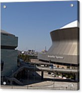 New Orleans Sports And Entertainment Complex Acrylic Print