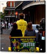 New Orleans Street Bike Taxi Acrylic Print