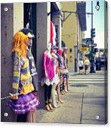 New Orleans Street Mannequins Acrylic Print