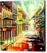 New Orleans Summer Rain Acrylic Print