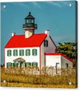 New Paint On East Point Lighthouse Acrylic Print