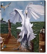 New Point Egret Acrylic Print
