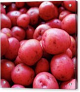 New Red Potatoes For Sale In A Market Acrylic Print