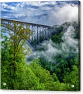 New River Gorge Bridge Morning  Acrylic Print