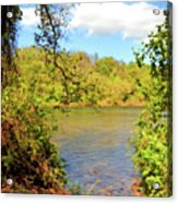 New River Views - Bisset Park - Radford Virginia Acrylic Print