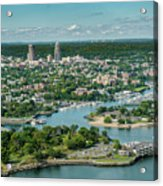New Rochelle From The Long Island Sound Acrylic Print