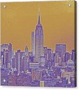 New Tork City Ny Travel Poster 5 Acrylic Print