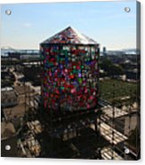 Stained Glass Water Tower In Milwaukee Acrylic Print