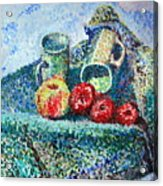 New Work Painted In Pointillism  Acrylic Print