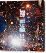 New Year Eve Time Square Acrylic Print