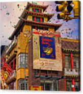 New Year In Chinatown Acrylic Print