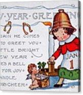 New Year Postcard Acrylic Print